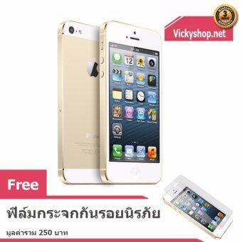 REFURBISHED Apple iPhone5 16 GB Gold ฟรี ฟิล์มกระจกกันรอยนิรภัย