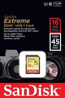 Sandisk เมมโมรี่การ์ด 16GB Extreme SD HC Secure Digital Memory Card