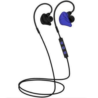 ไร้สายบลูทูธ 4.1 เสียงรบกวนยกเลิกแฮนด์ฟรีเพลงในหูหูฟังหูฟังกีฬาสำหรับ iPhone 6 6S 6 Plus Samsung Galaxy S5 S6 S7 สีน้ำเงิน+สีดำ