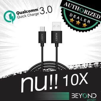 แนะนำ [สายหนา 4 mm] สายชาร์จ Aukey Quick Charge 3.0 Compatible Micro 2.0 USB Cable สายชาร์จ/สายซิงค์ รองรับการชาร์จไวจากระบบ Fast Charge Qualcomn QC3.0+2.0 ยาว 2 เมตร สีดำ ขายดี