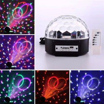 ไฟเวที ไฟดิสโก้ MP3 LED Magic Ball Light ไฟหมุนเปลี่ยนสี