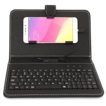 โทรศัพท์มือถือมือถือ...ผ่านแป้นพิมพ์เล็ก ๆ ครอบป้องกันเคสบูธสำหรับ Android (สีดำ)