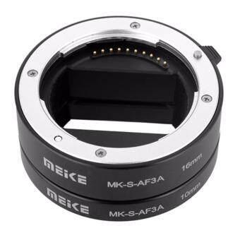 Meike ท่อต่อเลนส์ถ่ายมาโคร Sony A6000,A6300,A6500,A5100,A3000 หน้าสัมผัสโลหะ ปรับรูรับแสงได้ Macro Extension Tube