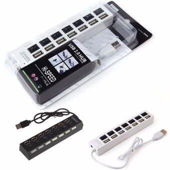 ช่องต่อ USB 2.0 แบบ 7 พอร์ท พร้อมสวิท (สีขาว)