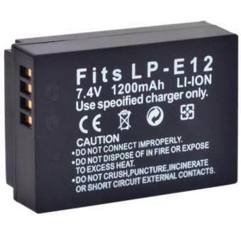 แบตเตอรี่กล้อง รุ่น LP-E12 LPE12 แบตกล้อง แคนนอน Canon EOS M / EOS-M, Canon M, Canon EOS M2, Canon EOS M10, Canon EOS Rebel SL1, Canon EOS 100D ... Replacement Battery for Canon (Black)