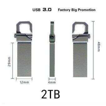มาใหม่ USB Flash Drive Memory USB Stick U Disk Pen Drive 2TB Pendrive (Silver) - intl ขายดี