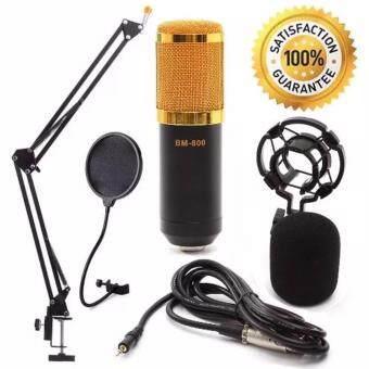 At First BM-800 Condensor Microphone ไมค์โครโฟนอัดเสียง SET (Black)