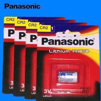 Panasonicถ่านกล้องถ่ายรูปCR2 Lithium 3V -สีขาว(4ก้อน)