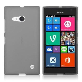 แฟชั่นซิลิโคนเจลนุ่มพิเศษบางเคส TPU สำหรับ Nokia Lumia 730/735 (สีเทา) (ต่างประเทศ)