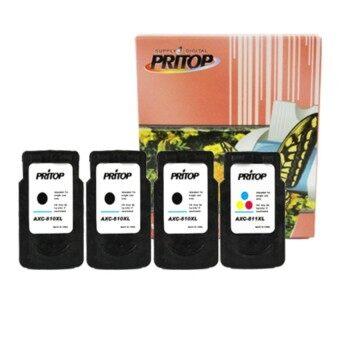 Canon PIXMA MP287/MP497/MP366/MX416/MX426 ใช้ตลับหมึกอิงค์เทียบเท่า รุ่น PG-810XL*3/CL-811*1 Pritop