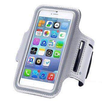 โทรศัพท์มือถือมือถือกันน้ำวิ่งถือเคสปลอกแขนกีฬากระเป๋าสายเข็มขัดแขนห้องออกกำลังกายสำหรับ iPhone 6/6S S3/S4 S5mini A5 J5 M7 M8 ยูนิเวอร์แซล 11.94ซม 12.7ซม (สีเทา)