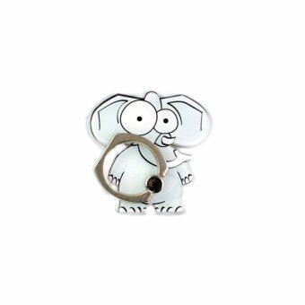 Phone Ring Holder Finger Grip Animal Series Elephant For Cell Phone or Mobile Phone - intl (แหวนโทรศัพท์ / ผู้ถือโทรศัพท์ / อุปกรณ์เสริมโทรศัพท์)