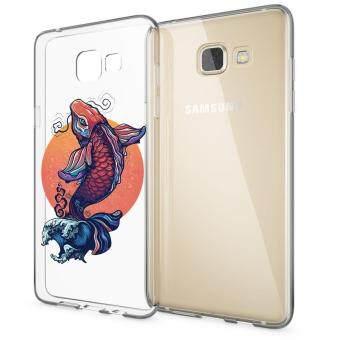 HugCase TPU เคส Samsung Galaxy A9 Proเคสโทรศัพท์พิมพ์ลาย Koi 2 เนื้อบาง 0.3 mm
