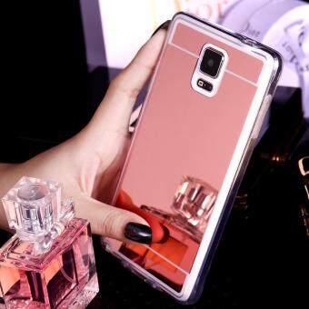 Case Samsung Galaxy Note 4เคสกระจกเงา ขอบยางLuxury Mirror Soft Clear TPU Case/Cover Pink (สีชมพู)