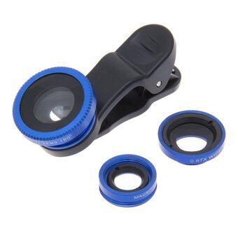 DT CLIP LENS 3 IN 1 เลนส์ติดกล้องมือถือ แบบ 3 in 1 (สีน้ำเงิน)