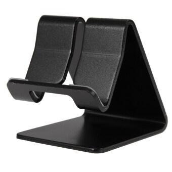 โทรศัพท์มือถือที่โต๊ะเหล็กโต๊ะเล็กโต๊ะวางบูธสำหรับแท็บเล็ต iPhone (สีดำ)