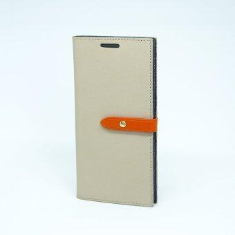 Goospery Samsung เคส Galaxy S7 Edge G935 รุ่น ROMANCE DIARY (Grey/Orange)