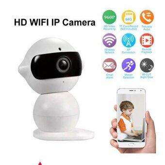 Dual-HD Wireless IP Camera Wifi กล้องวงจรปิดไร้สาย รุ่น Mini Robot (สีขาว)