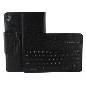 Harga Premium Muti-angle Stand Folio Cover Case with Slim Magnetically Detachable Bluetooth Keyboard For Google Nexus 9 Tablet, Black(8.9-Inch 2014 Model) - Intl
