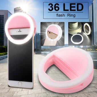 กล้องมือถือแสงแฟลช Led วงแหวนกระตุ้นเติมเซลฟีหรี่แสงได้ DC709 (สีชมพู) - intl