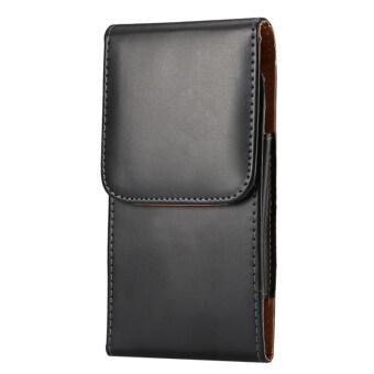 แนวหนังสไตล์ดีดฝาเคสกระเป๋าสตางค์เข็มขัดแบบโยนกระเป๋าโทรศัพท์แพคเกจสำหรับ Samsung Galaxy Note 2 Note 3 Note 4 (สีดำ)