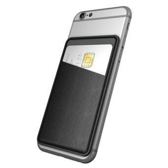 Dodocool ยูนิเวอร์แซลอุลเรียวยึดอัตตายึดบัตรเครดิตติดอยู่บนกระเป๋าสตางค์สำหรับสมาร์ทโฟน (สีดำ)