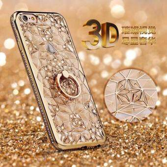 Case Samsung J7 Prime เคสนิ่ม ขอบเพชร 3 D แหวนเพชรตั้งได้ ราคาถูกพร้อมส่ง Case Samsung Galaxy J7 Prime New Diamonds are Forever ใหม่ สีทอง