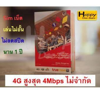 ซิม ทรู เทพ Sim Net เครือข่าย TRUE ซิมเติมเงินเน็ต 4G Unlimited ความเร็วสูงสุด 4Mbps ใช้ได้ไม่อั้น