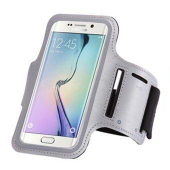 โทรศัพท์มือถือมือถือกันน้ำวิ่งถือเคสปลอกแขนกีฬากระเป๋าสายเข็มขัดแขนห้องออกกำลังกายสำหรับ Samsung S5 S6/สากล/S6 Edge 13.21ซม (สีเทา)