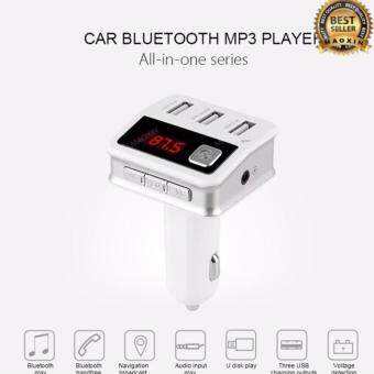 maoxin ของแท้100% บลูทูธในรถยนต์ B12 Bluetooth MP3 Player Handsfree Car Kit AUX Hands Free FM Transmitter With LCD 3*USB Car Charger Cigarette Lighter
