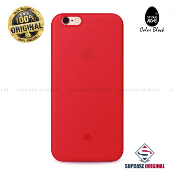 STONE AGE Color Block Collection Slim Fit Case 0.4 mm. ของแท้ สำหรับ iPhone 6 และ iPhone6S สีแดง (Red)