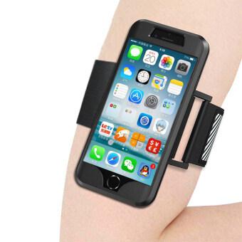 กีฬากลางแจ้งห้องออกกำลังกายวิ่งปรับได้กรณีปลอกแขนยางซิลิโคนนิ่มกระเป๋าโทรศัพท์ฝาสำหรับ iPhone 7 Plus (สีดำ)