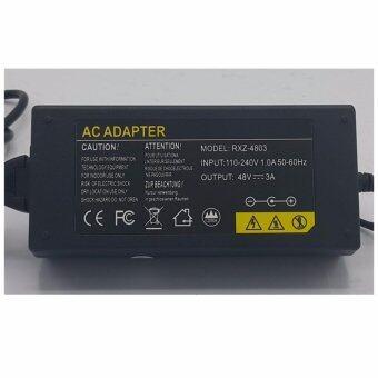 Mastersat Adapter 48V 3A สำหรับ เครื่องบันทึก NVR ที่ใช้สำหรับ กล้อง IP Camera 48V. แบบมี POE ในตัว 8 จุด