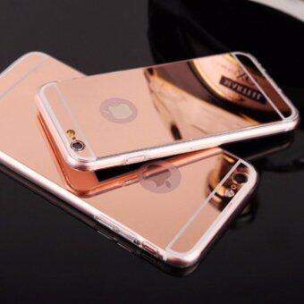 Case Apple iPhone 7เคสกระจกเงา ขอบยางLuxury Mirror Soft Clear TPU Case/Cover Pink (สีชมพู)