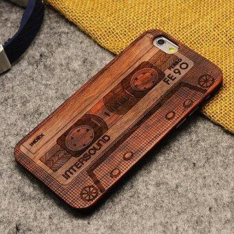 Harga Thin Luxury Bamboo Wood Phone Case For Iphone 5 5S 6 6S 6Plus 6S Plus 7 7Plus Cover Wooden(tape for 6 6s) - intl