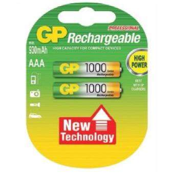 GP Battery แบตเตอรี่แบบชาร์จได้ ขนาด AAA 1000mAh 2 ก้อน