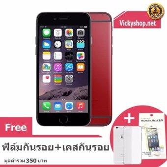 REFURBISHED Apple iPhone6 16 GB – Black Red ฟรี ฟิล์มกันรอยและเคสกันรอย