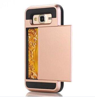2 in 1 ซิลิโคน & พลาสติก กันกระแทก เคส case for Samsung galaxy A8 ด้วย บัตรเครดิต สล็อต โทรศัพท์มือถือ Cases - intl