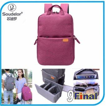 Harga Soudelor DSLR Camera Backpack 131 By 9FINAL กระเป๋ากล้อง DSLR เป้สะพายหลัง สีชมพู (Pink Color)