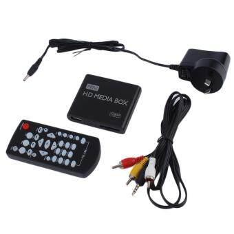 โอมินิแบบ 1080p HD กล่องเครื่องเล่นวิดีโอ mpeg/MKV/H, 264 HDMI ผ่านเอวี+รีโมทสีดำ