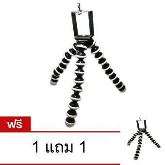 ขาตั้งกล้อง ขาตั้งมือถือ แบบหนวดปลาหมึก ไซส์ใหญ่ พร้อมหัวต่อสำหรับมือถือ (สีดำ) ฟรี 1 แถม 1 (สีดำ)