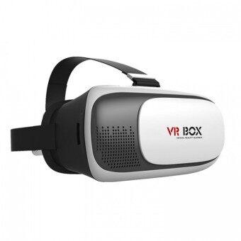 Akiko VR BOX HD 3D VR Glasses Headset แว่นดูหนัง 3D อัจฉริยะ สำหรับสมาร์ทโฟนทุกรุ่น (สีขาว)