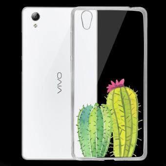 AFTERSHOCK TPU เคส vivo Y51 เคสโทรศัพท์พิมพ์ลาย Cactus เนื้อบาง 0.33 mm