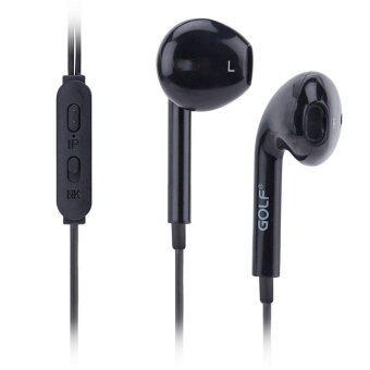Golf M1 Delightful Stereo Earphones หูฟัง Small talk headset รุ่น M1 สำหรับ Iphone/Ipad & Android (สีดำ)
