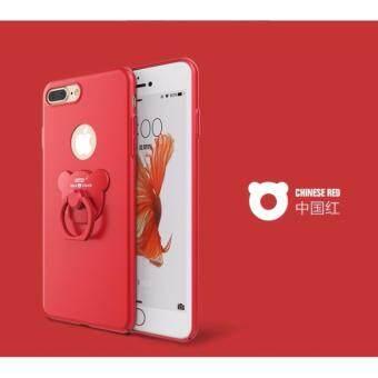 D8 เคส PC แหวนหมี สีแดง For iPhone 7