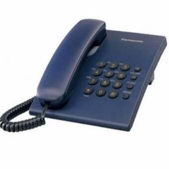 โทรศัพท์บ้านสายเดี่ยว Panasonicรุ่น KX-TS500 สี น้ำเงิน