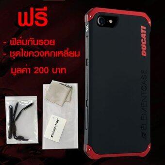 Element Case Ducati Solace Ultra Sleek for iPhone 7 (Black/Red) ฟรี ฟิล์มกันกระเเทก Element+ชุดไขควงหกเหลี่ยม