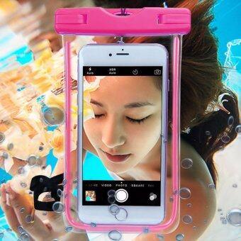 ซองกันน้ำ สำหรับโทรศัพท์มือถือ (Waterproof bag) สีชมพู