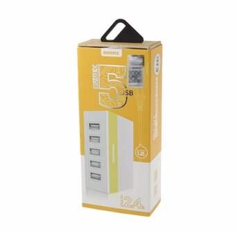 bestvalue Remax bestvalue Remax Slim 5 USB Hub ปลั๊กชาร์จรวม USB 5 ช่อง สายยาว 1.2 เมตร (สีเหลือง)