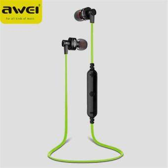 Awei Earphone Free of Shipping High Quality Awei A990BL หูฟังสเตอริโอ หูฟังระบบบูลทูธ Noise Isolation 4.0 Bluetooth Sport Earphone Mic